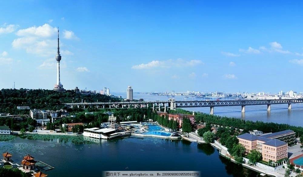 武汉全景图 龟山电视塔