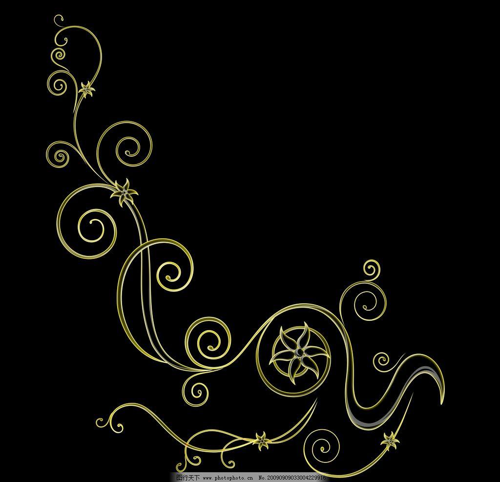 樹葉 花紙 背景 海報 廣告素材 黑色 艷麗 暗金色 花朵 花瓣 紋理