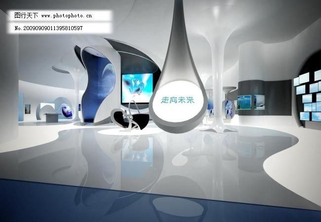 走向未来 走向未来图片免费下载 科技 室内设计 展厅 展厅设计