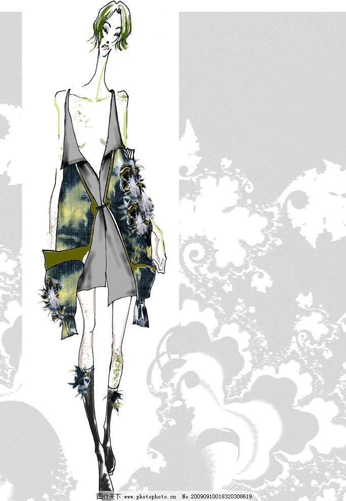 服装设计草图 个性