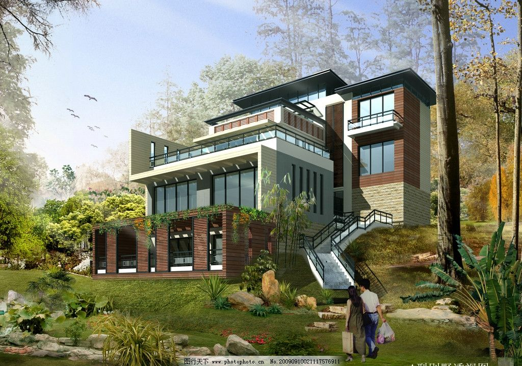 豪华别墅 别墅效果图 3d作品 3d设计 设计 72dpi jpg