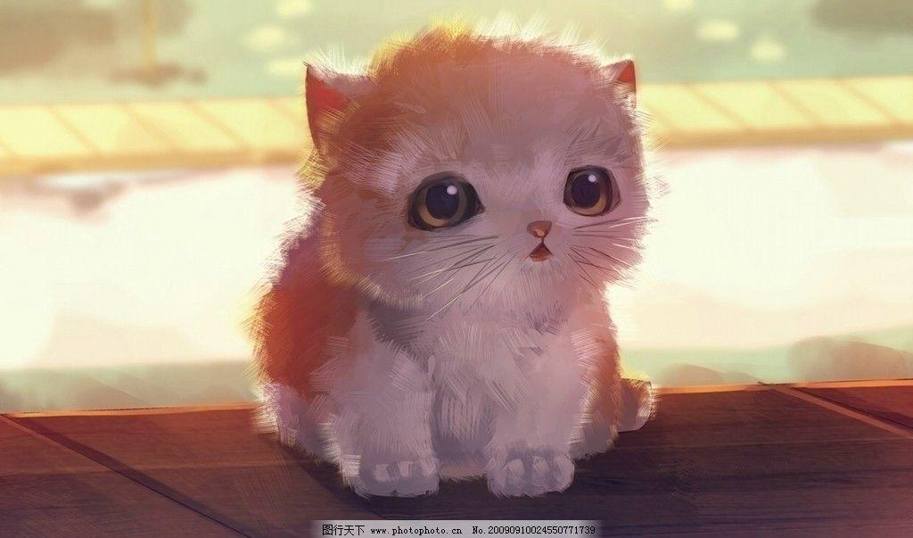手绘小猫 可爱的小猫 家禽家畜