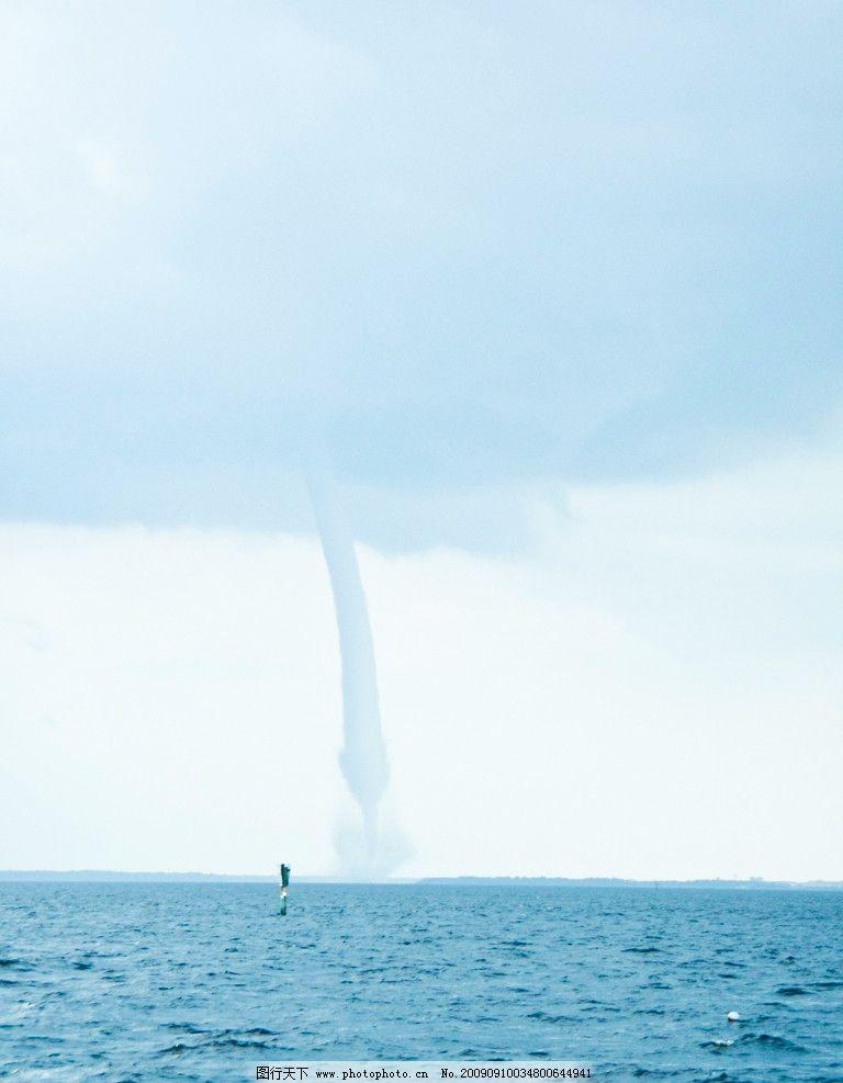 龙卷风 自然灾害 大海 水龙卷 乌云 气旋 摄影