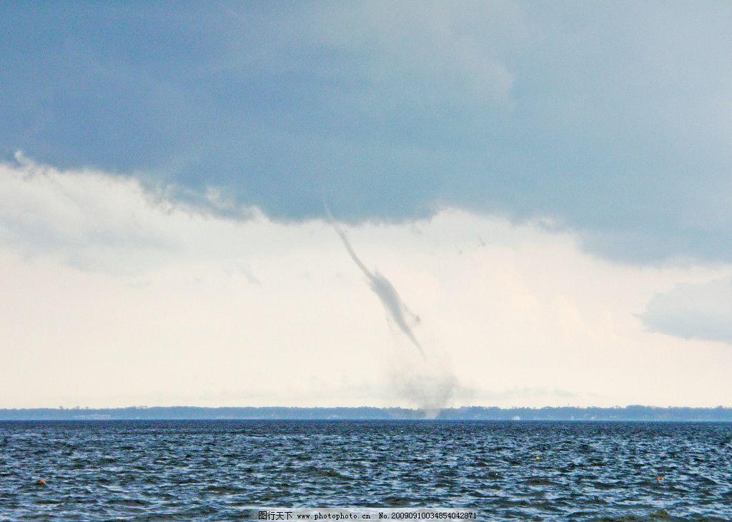 龙卷风 自然灾害 大海 水龙卷 乌云 摄影