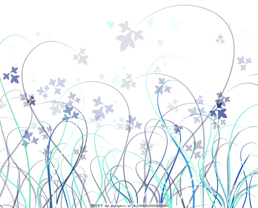 杂草 飘落的叶子 移门图库 花边花纹 底纹边框 设计 72dpi jpg