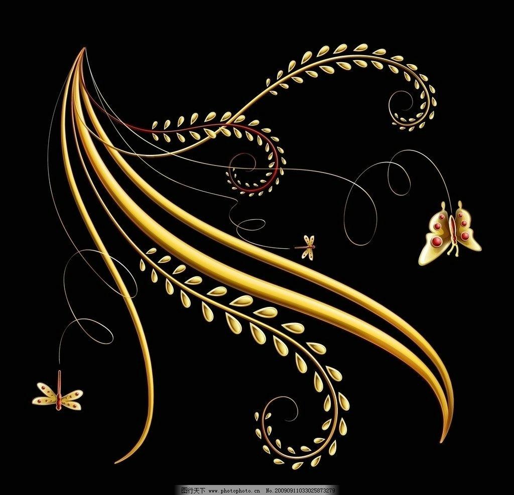 艳丽 暗金色 绳索 花朵 花瓣 纹理 墙纸 juice drops 精美典雅花纹暗