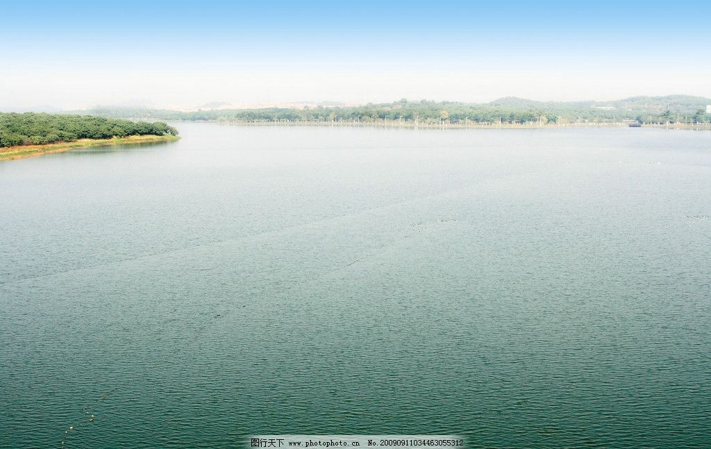 松山湖风光 湖泊 水库 风景 东莞 广东 山水风景 自然景观 摄影 240