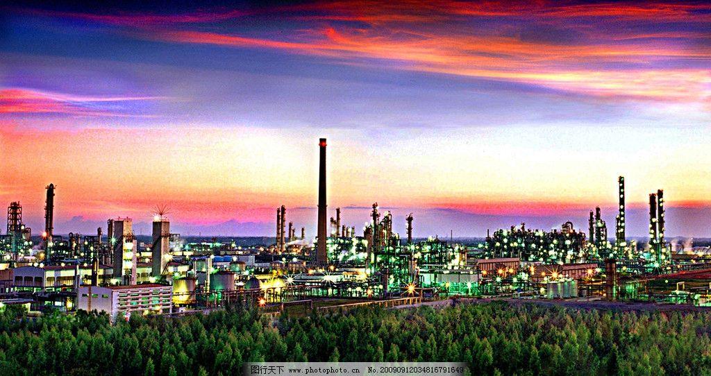 茂名乙烯夜景圖 茂名市 乙烯廠 煉油廠 中國石化 石油 自然風景 自然