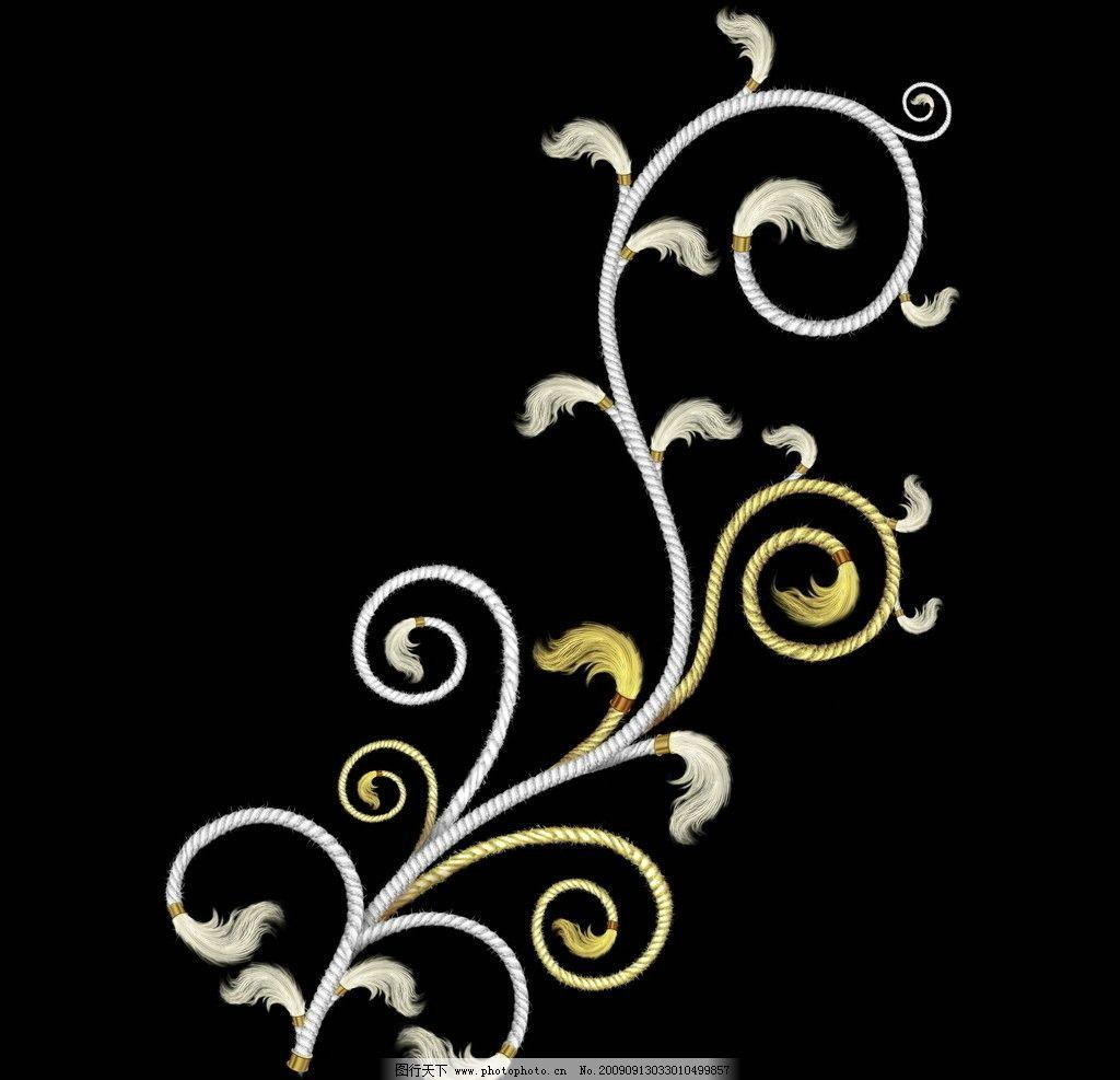 精美典雅花纹暗纹 梦幻 边框 立体 线条 条纹 底纹素材 时尚