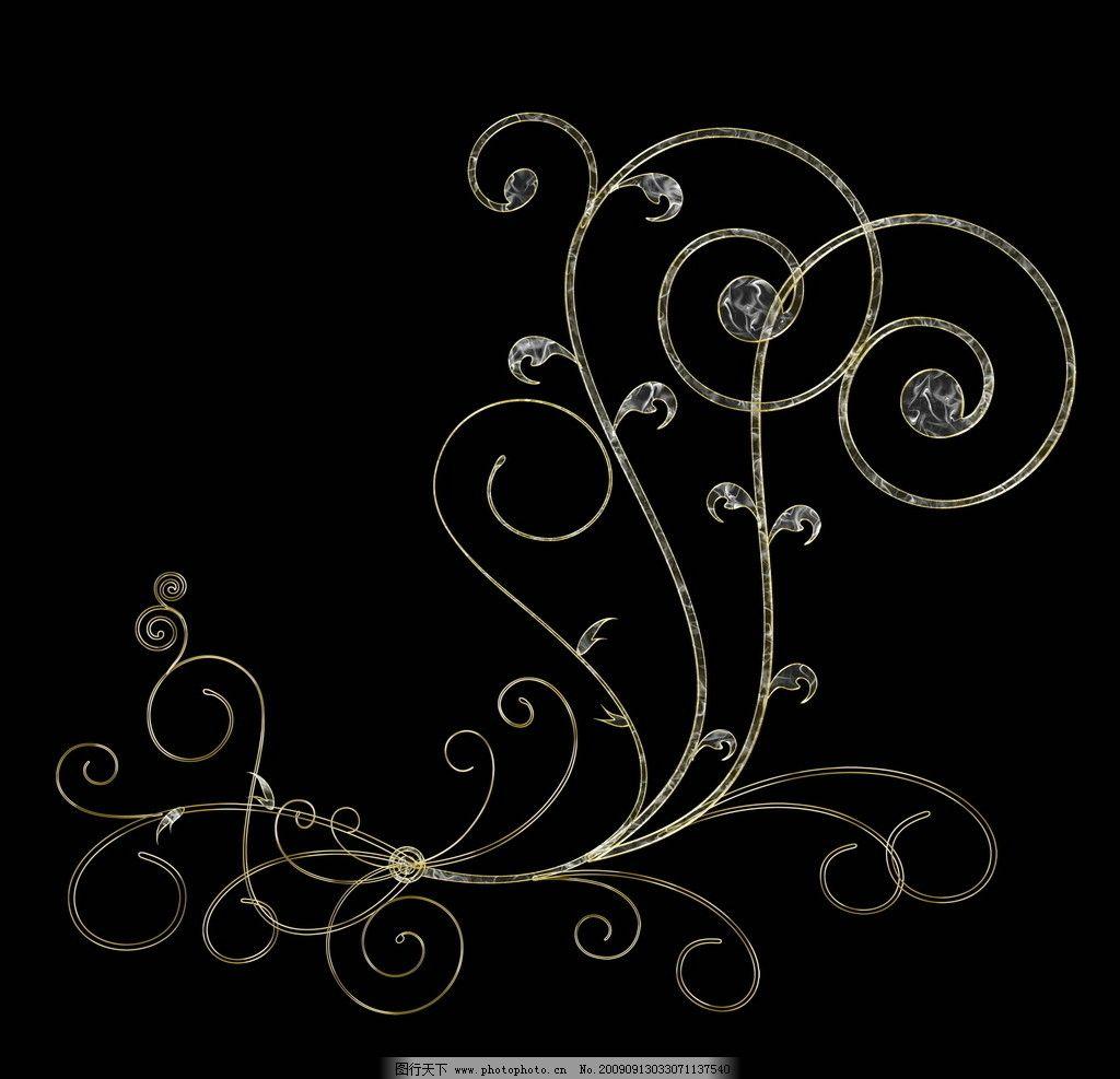 时尚 浪漫 高贵 树枝 树叶 花纸 背景 海报 广告素材 黑色 艳丽 暗