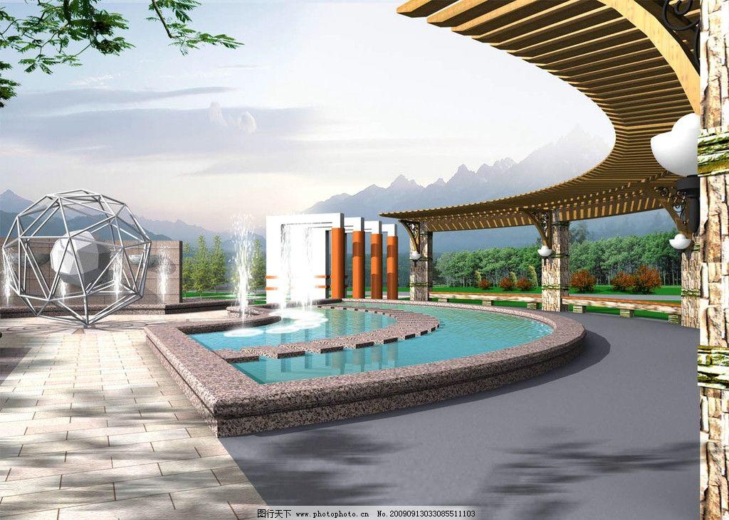 园林景观 建筑景观 环境设计 水景 绿化 小区 景观小品 源文件