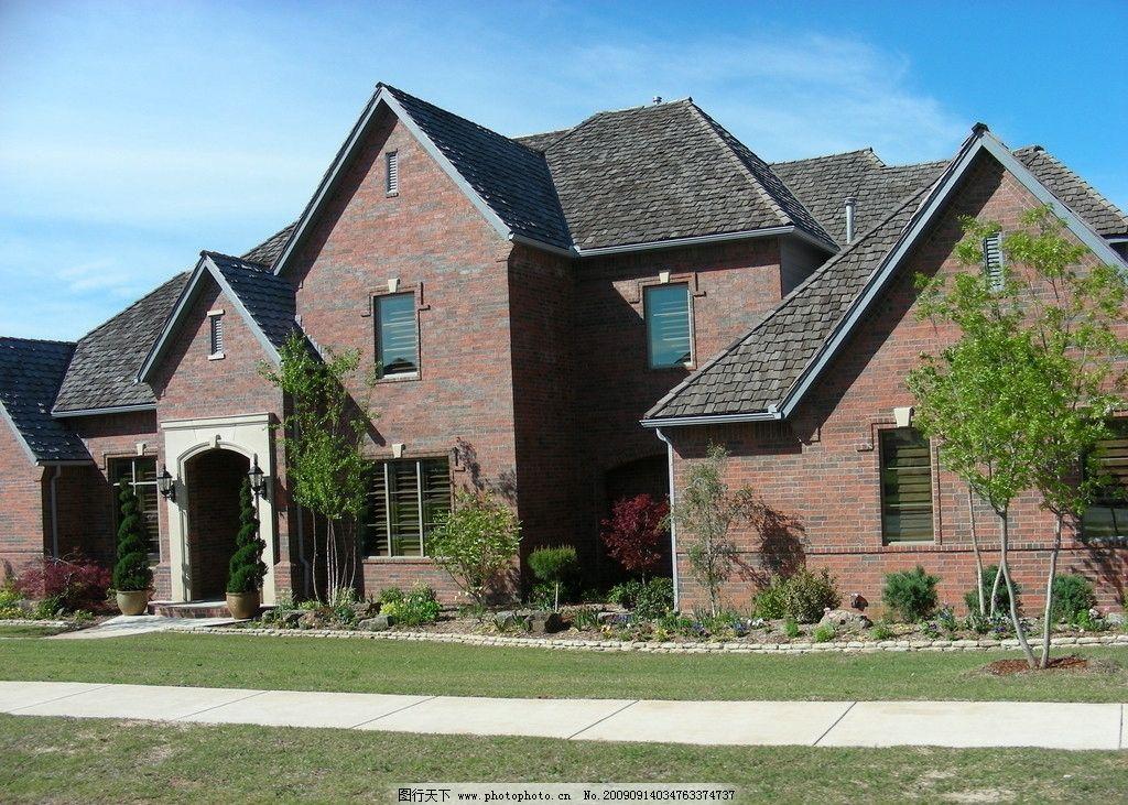房子 草地 蓝天 美国风景 建筑景观 摄影