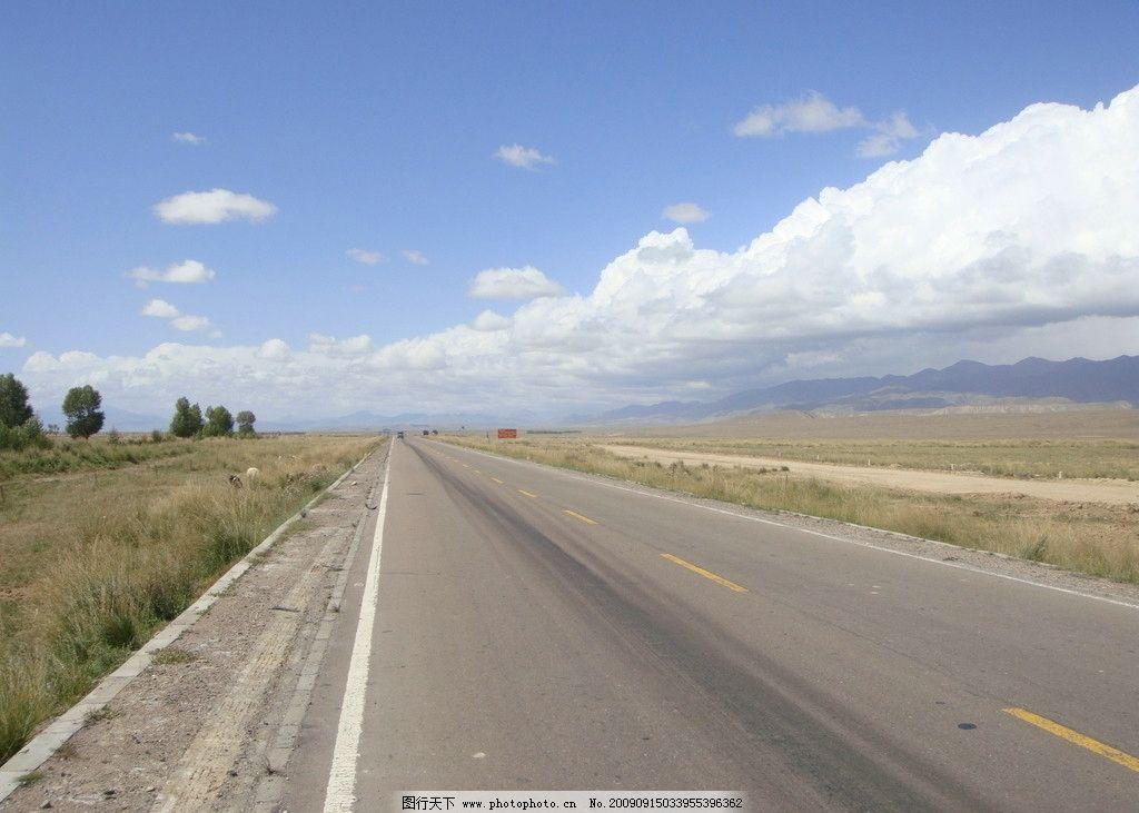 青海的高速公路图片