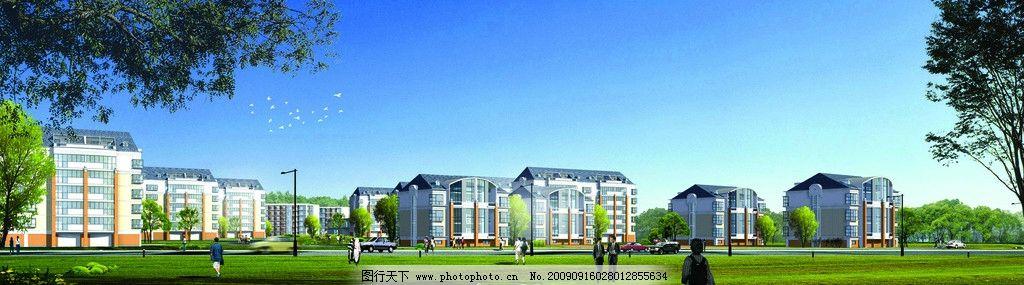建筑平面图 住宅楼 教工住宅 鸟瞰图 平面效果图 建筑图 平面3d效果图