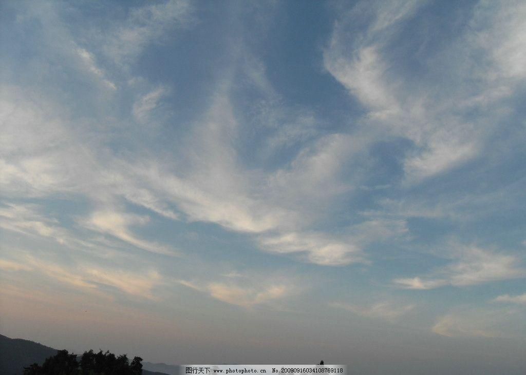 蓝天白云 天空 天黑前 高山上的天空 灰色 山上风景 自然风景