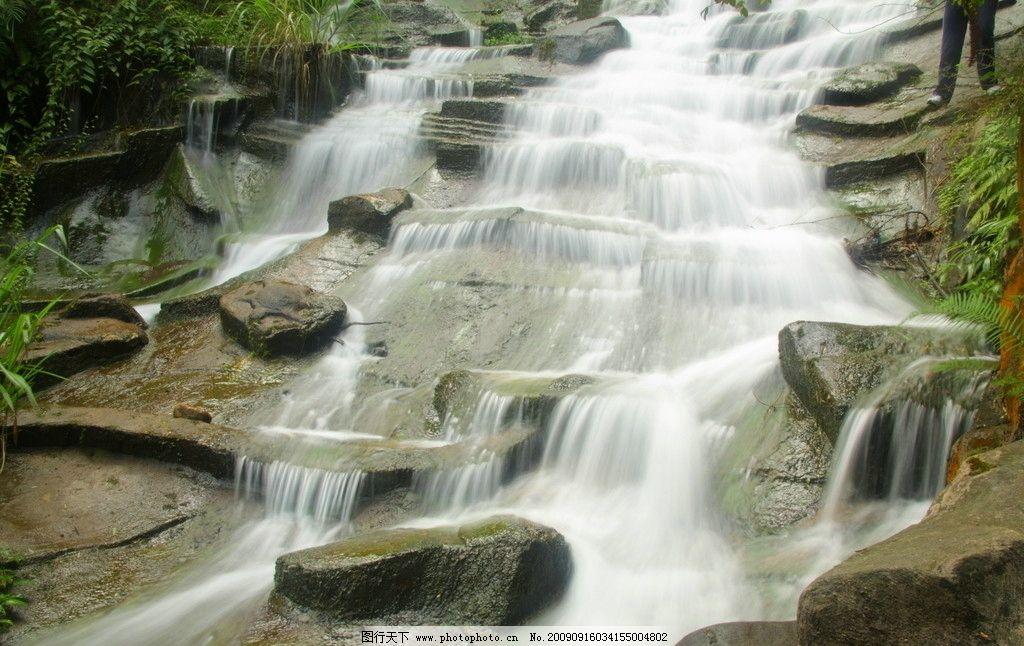 宝峰湖 张家界 瀑布 流水 山水 自然风景 旅游摄影 300dpi jpg