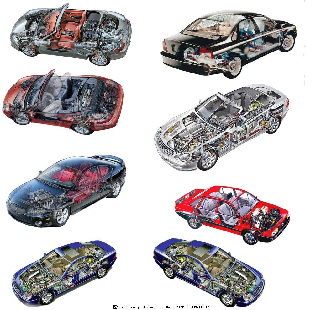 汽车结构 透明外壳那种