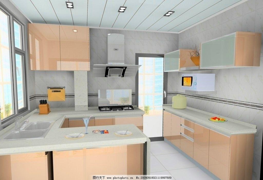 櫥柜 廚房 油煙機 效果圖 微波爐 冰箱 窗戶 經典櫥柜設計
