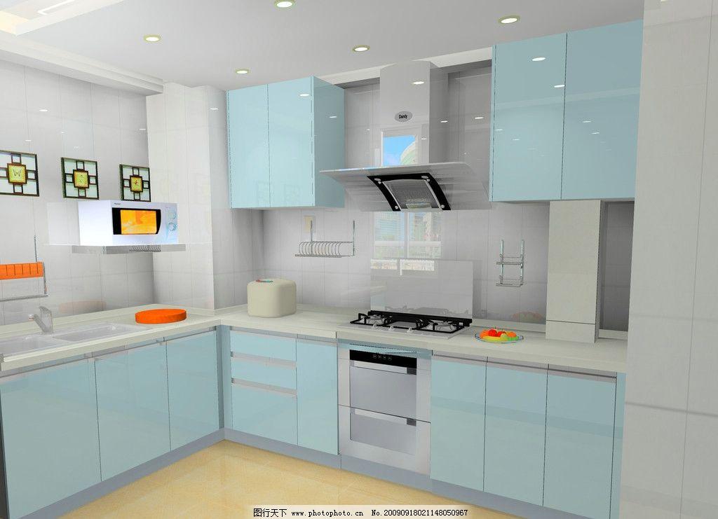 橱柜 厨房 油烟机 效果图 微波炉 冰箱 经典橱柜设计