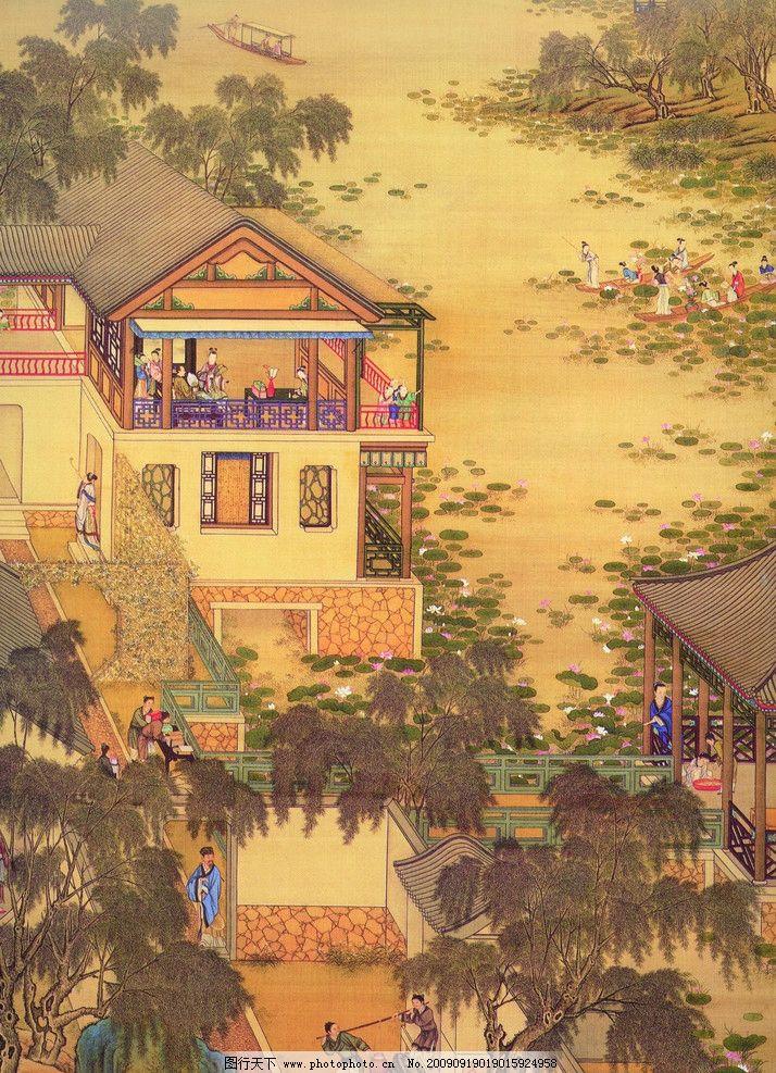 古画 古代 国画 山水画 古代建筑 国画风景 人物 中国古代 古图