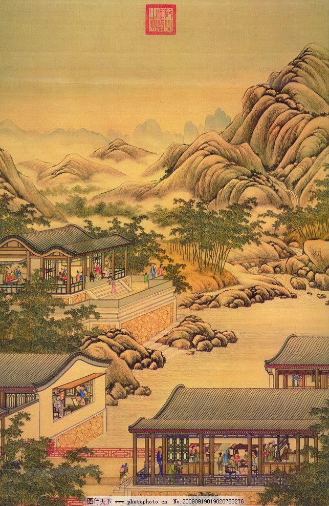 古画 古代 国画 山水画 古代建筑 国画风景 人物 中国古代