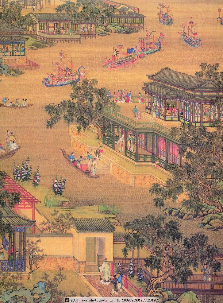 古画 古代 国画 山水画 古代建筑 国画风景 人物 中国古代 古图 绘画