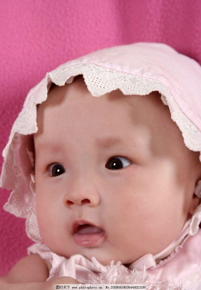 粉红色宝宝 美丽 可爱 娃娃 宝宝摄影 儿童幼儿 人物图库 72dpi jpg