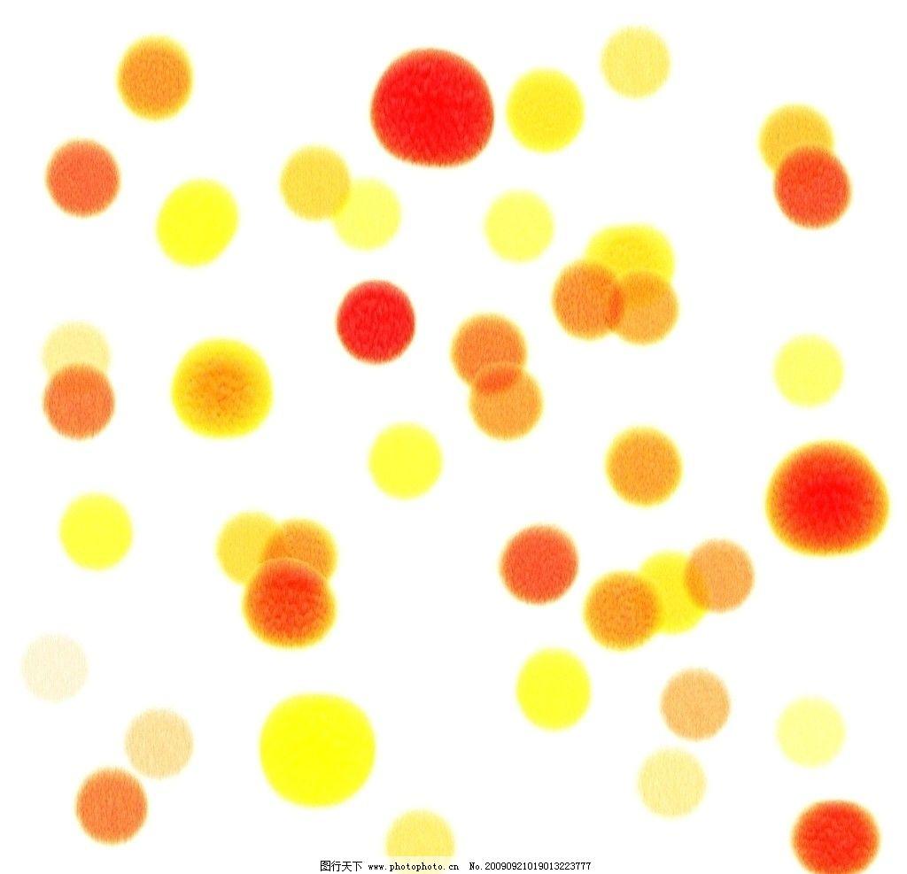 原创圆点水彩画笔迹 痕迹 水痕 墨迹 墨痕 红 黄 橙 桔 300dpi 原创水