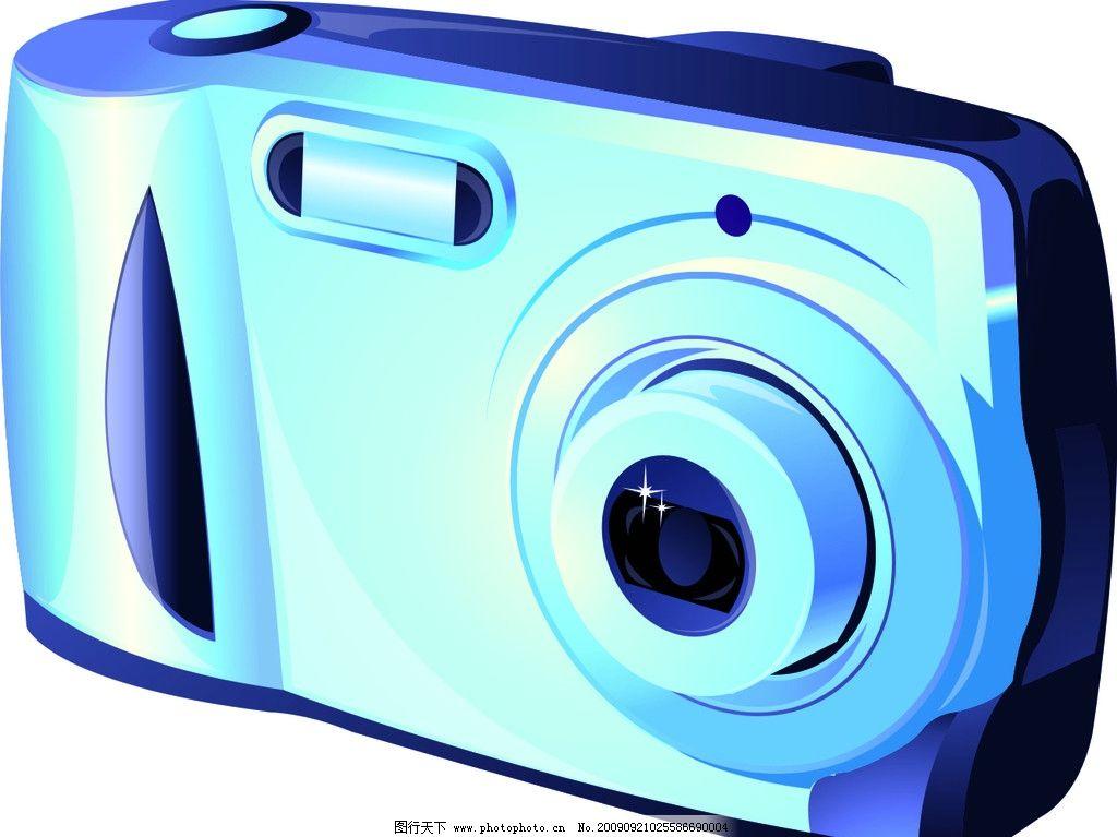 照相机矢量图 数码相机 生活用品 生活百科 ai