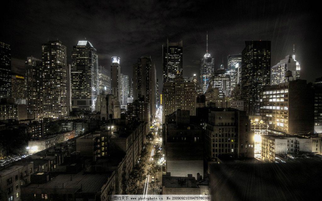 黑夜城市 晚上 建筑物 夜空 灯光 建筑摄影 建筑园林