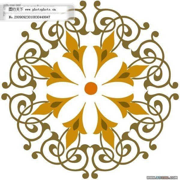 印刷专用精致边角装饰花纹