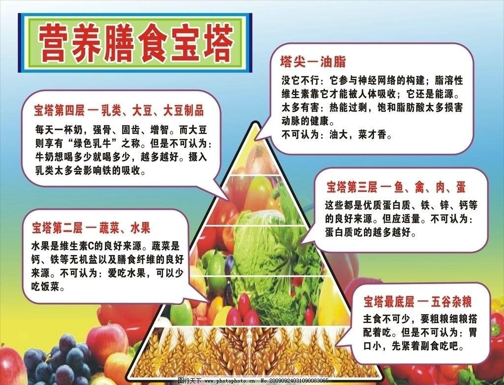 营养食物 营养宝塔 蔬菜 水果 其他设计 广告设计 矢量