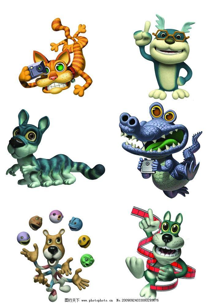 卡通 卡通大全 动物 可爱 运动 吉祥物 游戏卡通 源文件