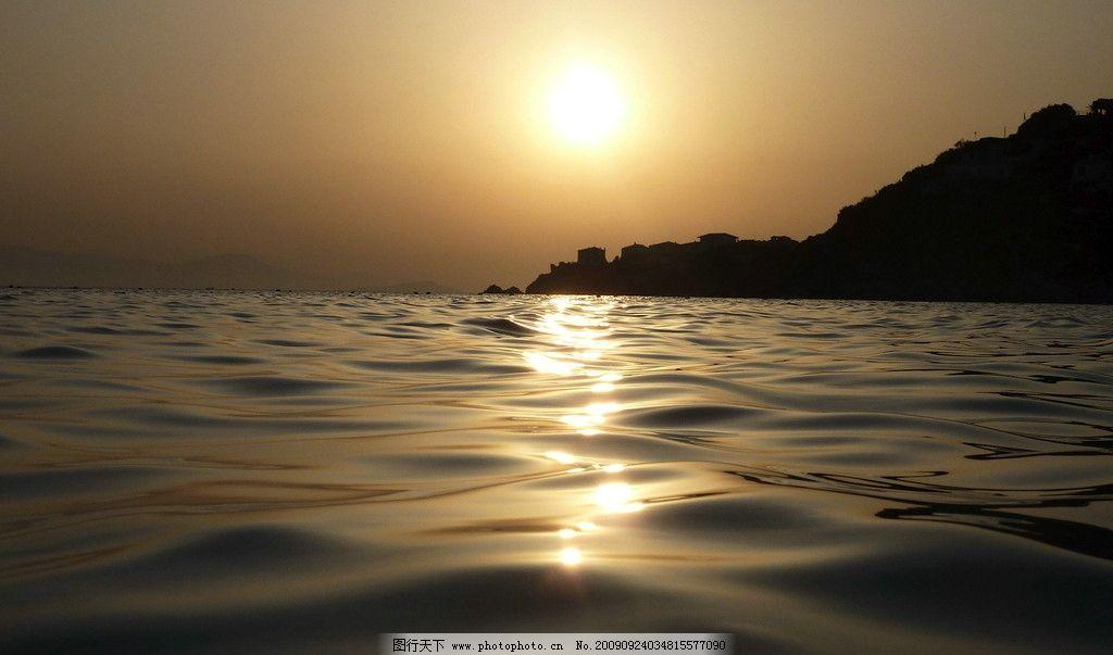 自然风景 景观 山水 树木 优雅景观 海边 夕阳 日出 摄影图 壁纸 自然