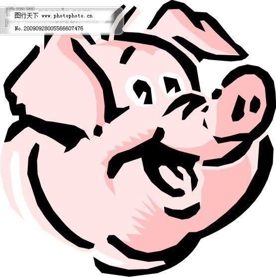 设计图库 矢量图 其他  卡通生肖猪猪头免费下载 家禽家畜矢量图 卡通