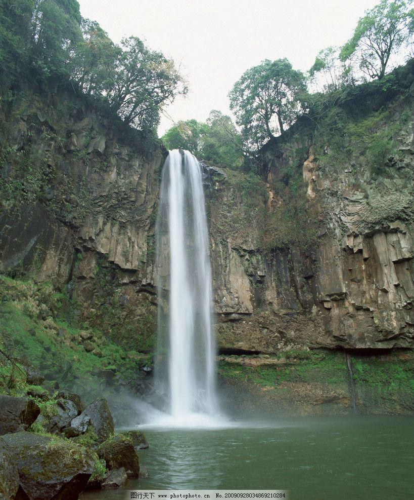 瀑布 溪流 小溪 美景 水 自然风景 自然景观 摄影 350dpi jpg