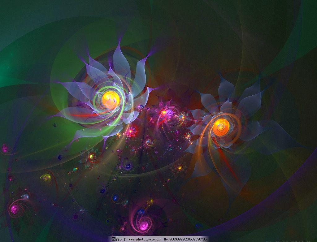 3d梦幻抽象花朵壁纸系列图片_抽象底纹_底纹边框_图行