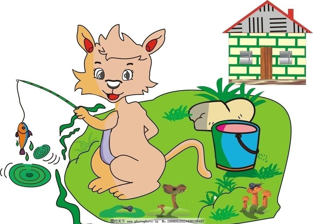 手绘保护野生动物