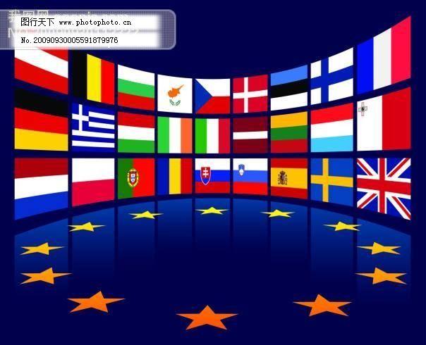 公共标识标记 国旗 矢量图 五角星 国旗 欧盟国旗 五角星 矢量图 矢量