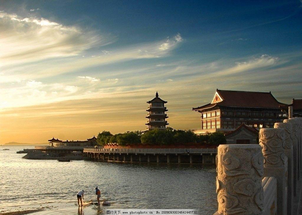 蓬莱仙境 蓬莱阁 八仙 山水 海市蜃楼 风景名胜 自然景观 摄影 300dpi